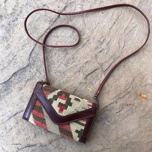 Vintage kilim cross body wallet